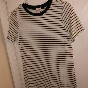 Cream/off-white striped dress